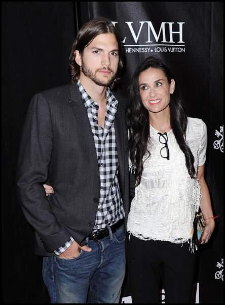 Ashton Kutcher et Demi Moore à New York en 2011