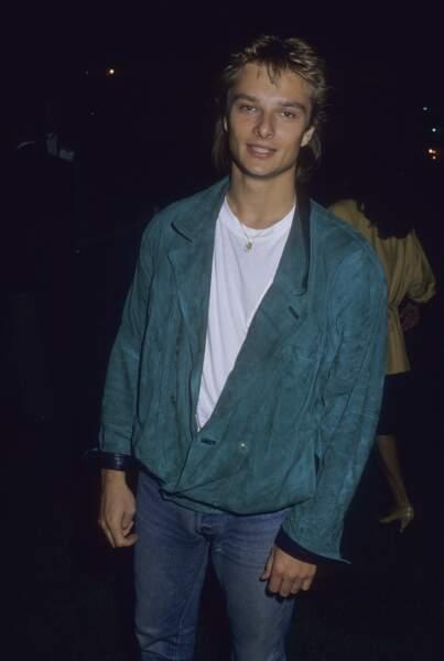 """David, à 19 ans, sur le point de se lancer avec le film musical américain, """"He's my girl""""."""