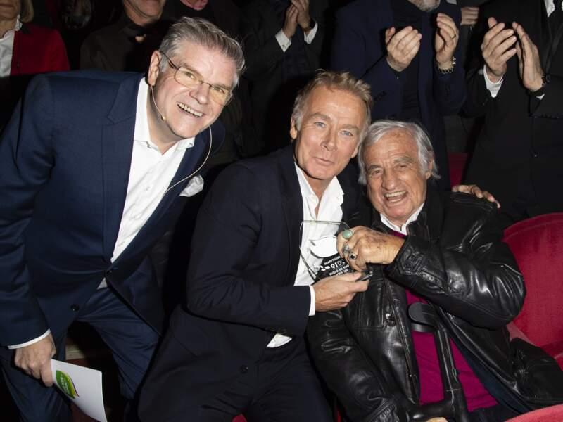 Trophées du Bien-Être : Jean-Paul Belmondo avec Sylvain Bonnet et Franck Dubosc