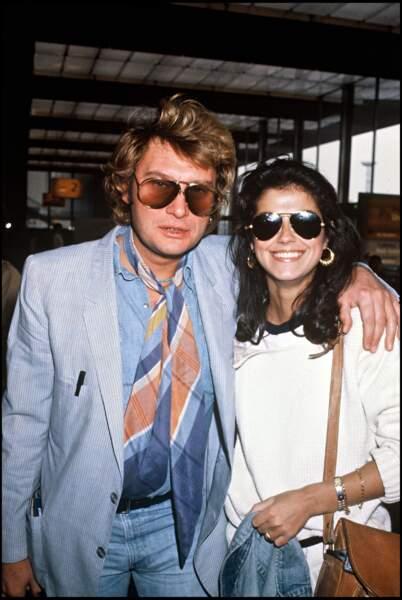 Johnny Hallyday et Babeth Etienne en 1981