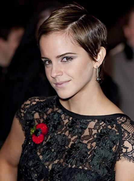 La coupe garçonne maîtrisée d'Emma Watson