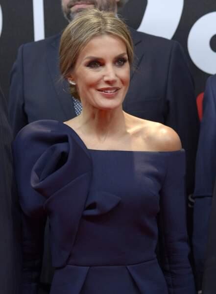 La reine Letizia d'Espagne lors du 50ème anniversaire des AS Sports Awards au palais de Cybèle à Madrid, Espagne, l