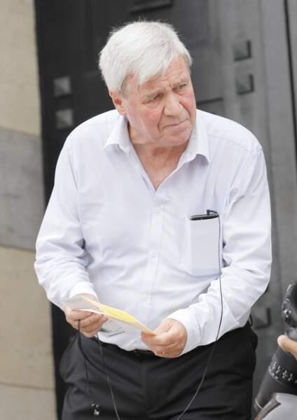 Bruno Masure était présent aux funérailles de Christophe Michel