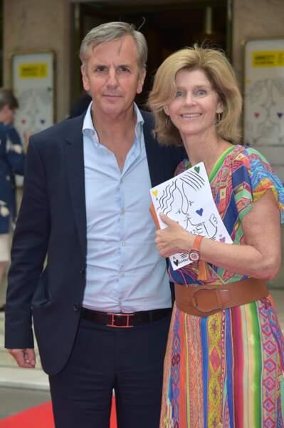 Bernard de la Villardière et sa femme Anne lors d'un gala au profit d'Amesty International en 2016