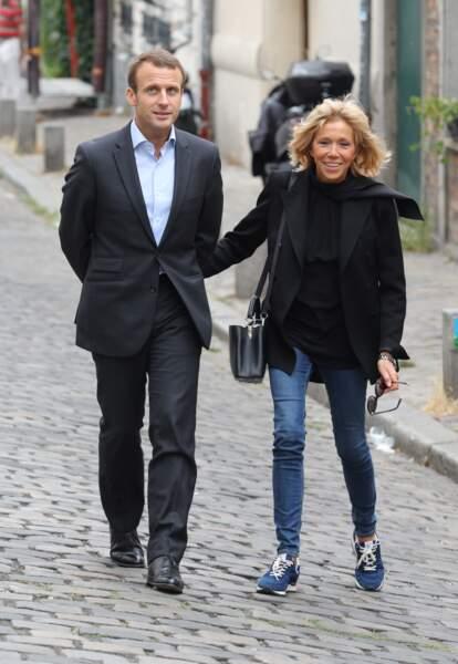 Le couple se balade à Montmartre, le 4 septembre 2016.