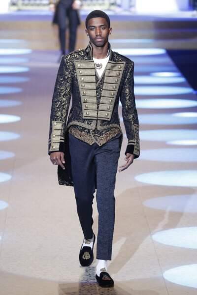 Christian Combs, le fils de Puff Daddy, est le sosie de son père lors du défilé Dolce & Gabbana