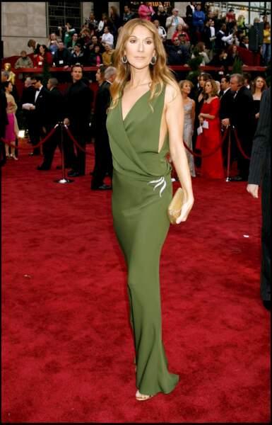 Céline Dion lors de la 79e cérémonie des Oscars en 2007