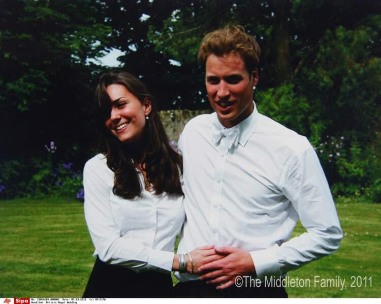 Le Prince William et Kate Middleton, le 23 juin 2005 après la remise de leur diplome de l'université de St Andrews