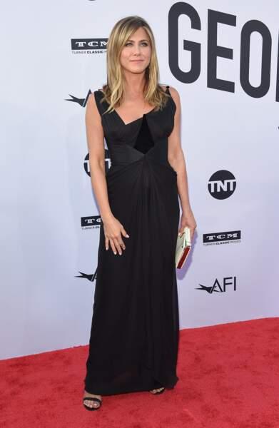 Jennifer Aniston en robe vintage Christian Lacroix