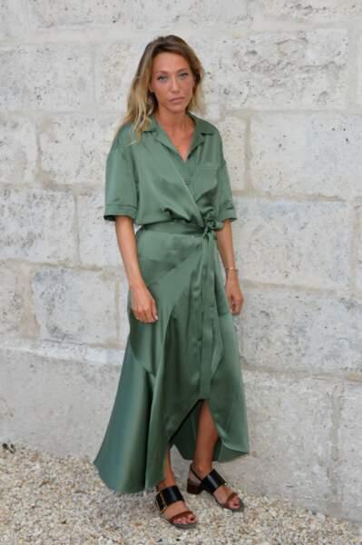 Laura Smet, sublime dans une robe fluide verte lors du 10ème festival Francophone d'Angoulêm