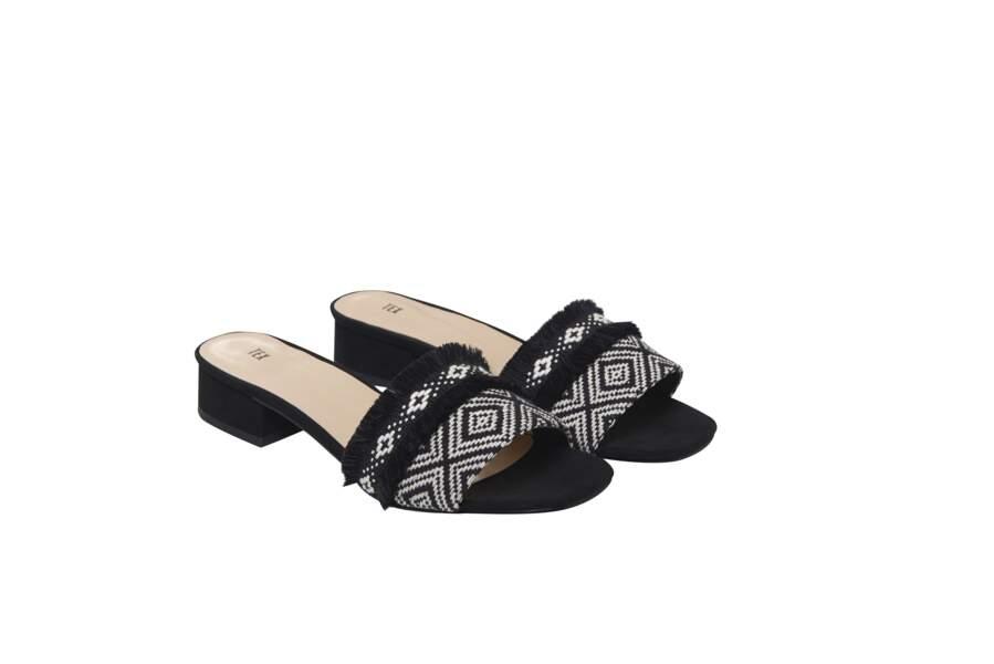 Géométrique, sandales Tex, 19,99 € (carrefour.fr)