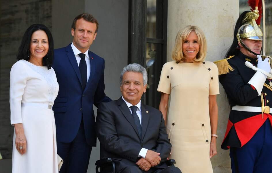 Brigitte et Emmanuel Macron ont pris la pose avec le président d'Équateur et son épouse