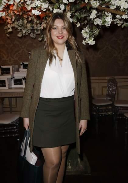 Héloïse Martin au défilé Stevens Ishay Couture à Paris, le 12 mars 2019
