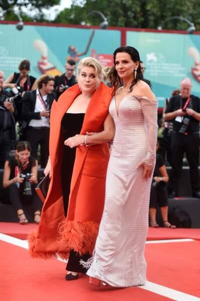 Sur le tapis rouge, Juliette Binoche était accompagné de Catherine Deneuve
