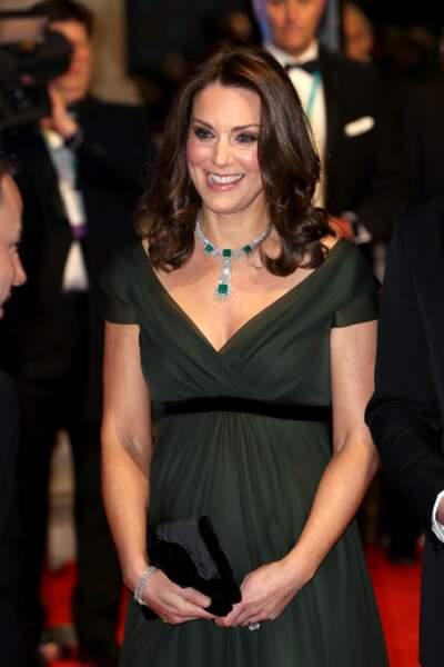 Kate Middleton à la 71ème cérémonie des British Academy Film Awards (BAFTA) au Royal Abert Hall à Londres
