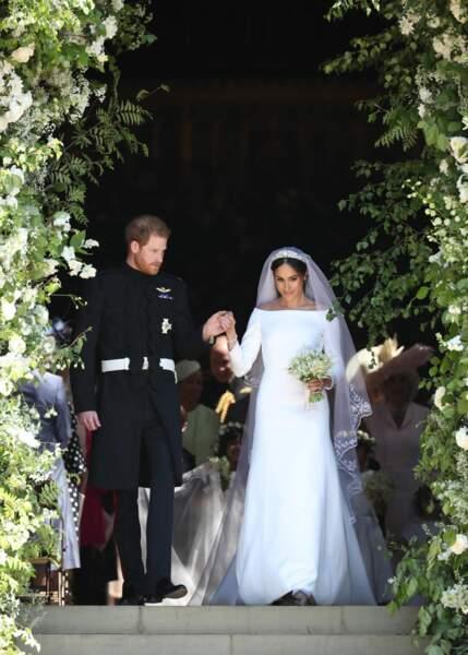 Le prince Harry et Meghan Markle après la cérémonie