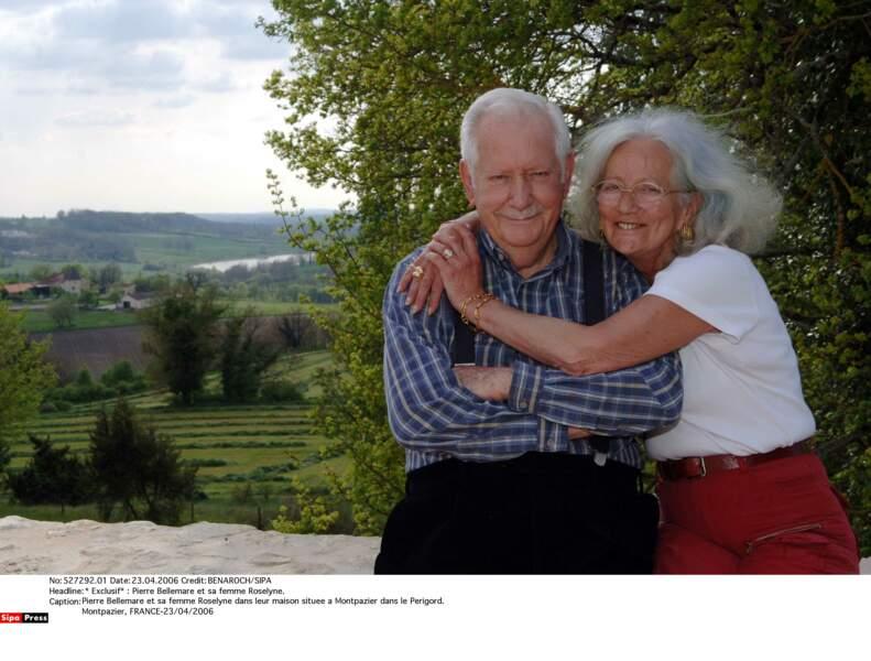 Pierre Bellemare et son épouse Roselyne en 2006