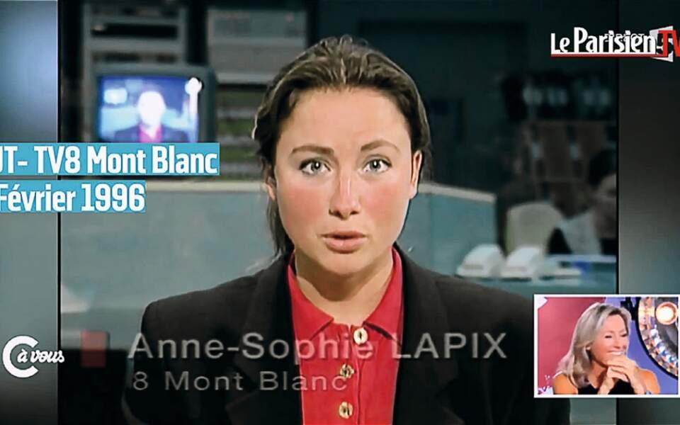 Anne -Sophie Lapix à la vingtaine