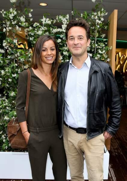 Nathanaël de Rincquesen et sa compagne Caroline au village de Roland Garros, le 29 mai 2018