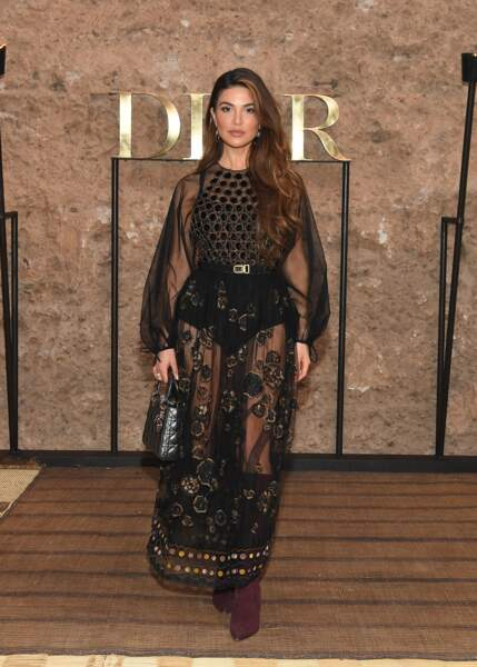 L'influenceuse Negin Mirsalehi mise sur une allure gipset pour le défilé Croisière 2020 Dior à Marrakech