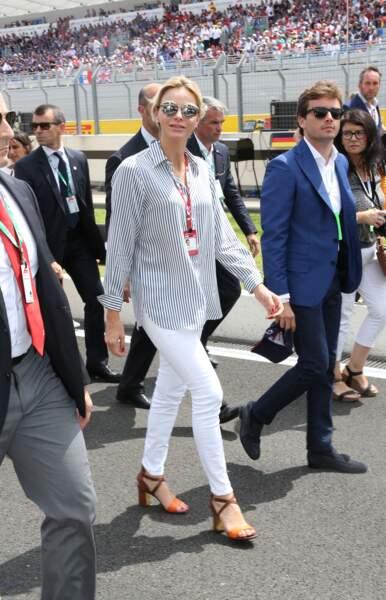 Charlene de Monaco au Grand Prix de France au Castellet le 24 juin