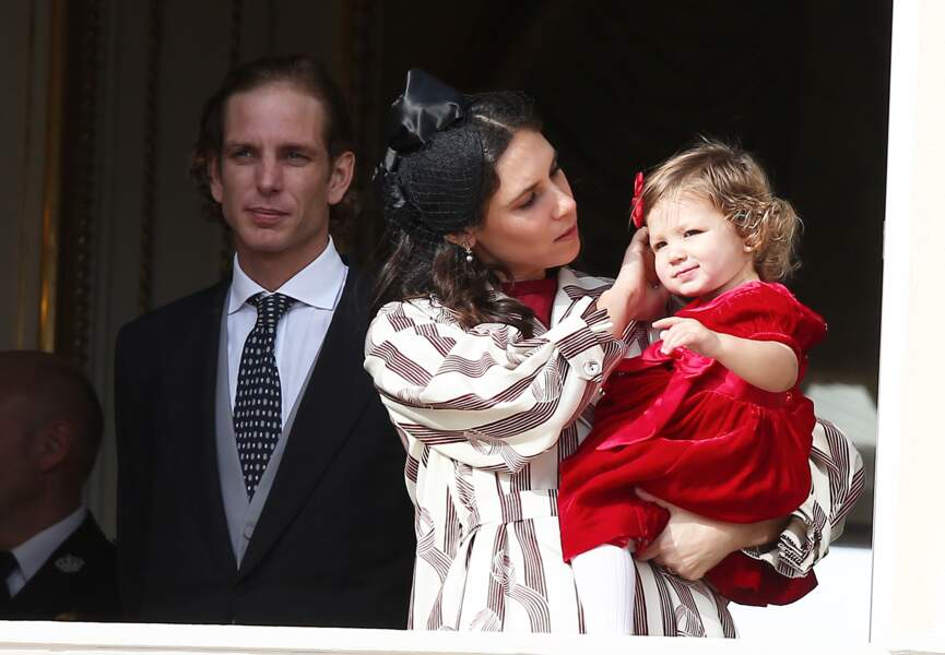 Andréa Casiraghi et Tatiana Santo Domingo avec leur fille India en novembre 2016