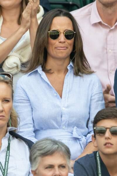 Pippa Middleton dans les tribunes de Wimbledon