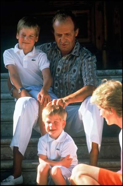 En vacances avec la famille royale d'Espagne à Majorque en 1986