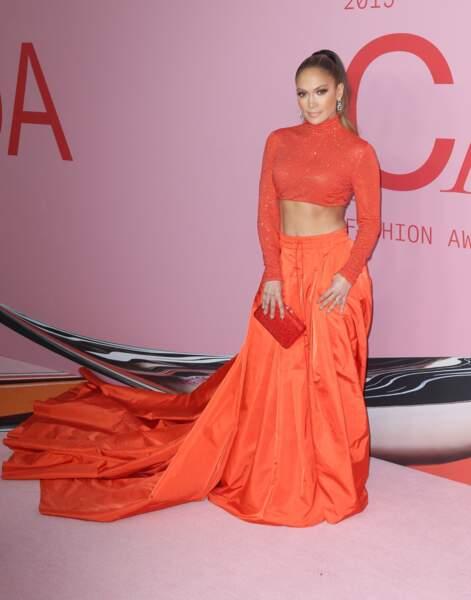 Jennifer Lopez à la soirée CFDA Fashion Awards à New York, le 3 juin 2019