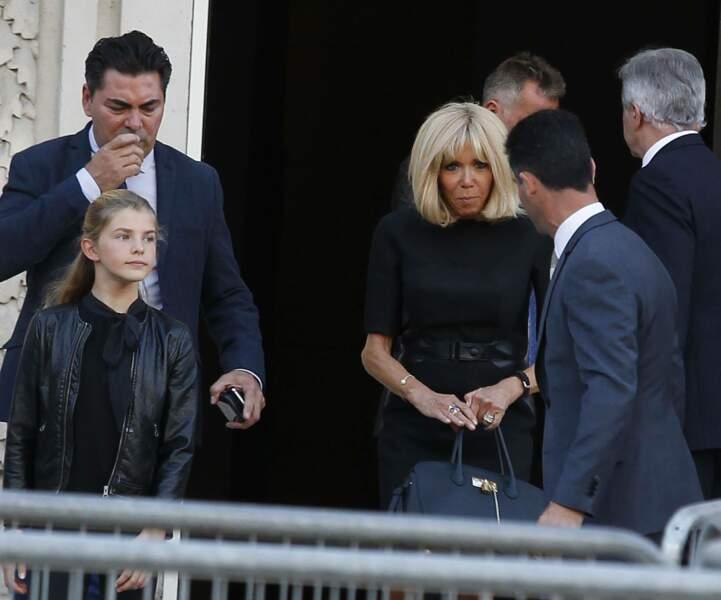 Brigitte Macron très élégante lors de la soirée-hommage à Karl Lagerfeld, à Paris, le 20 juin 2019.