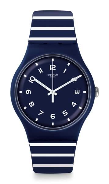Striure, Montre Swatch, 70 € (swatch.com)