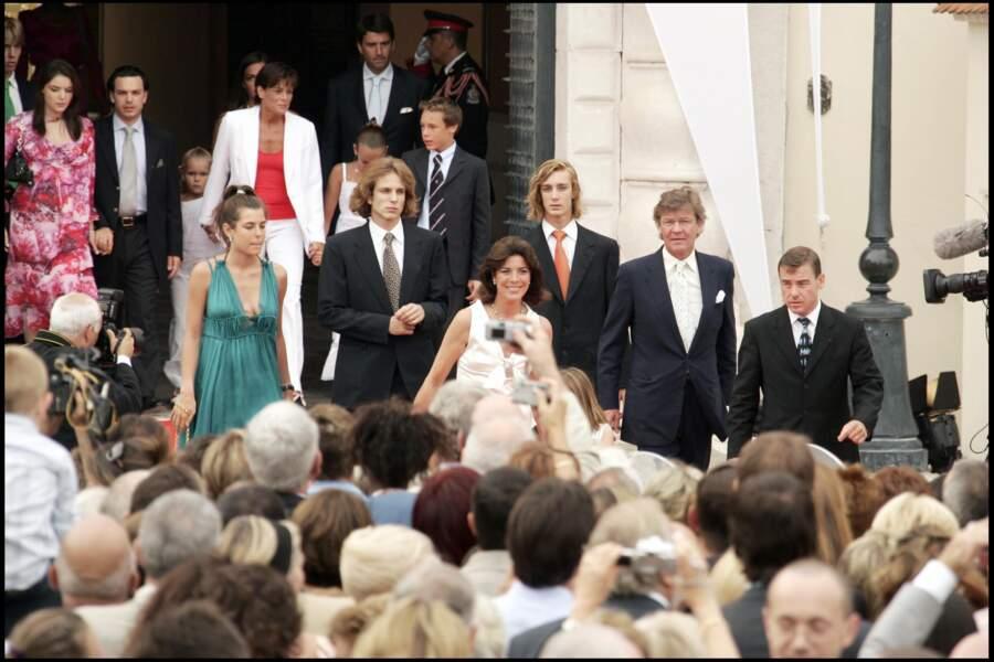 Charlotte Casiraghi en compagnie de toute la famille princière lors de l'avènement du prince Albert II de Monaco.