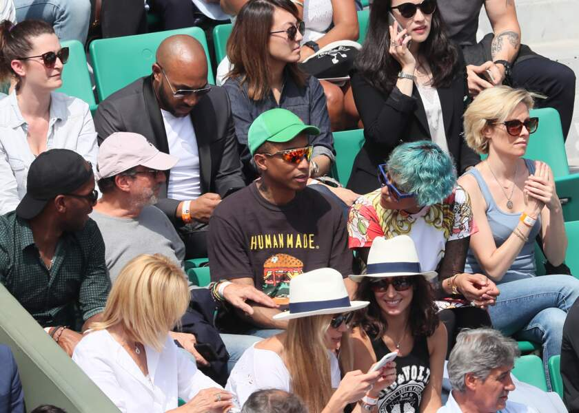 Pharrell Williams et sa femme, deux amateurs de tennis