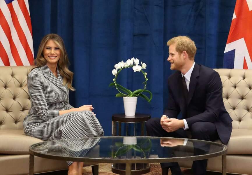 La First Lady tout sourire au côté du compagnon de Meghan Markle.