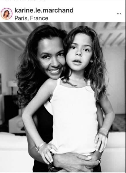 Karine Le Marchand et sa fille Alya
