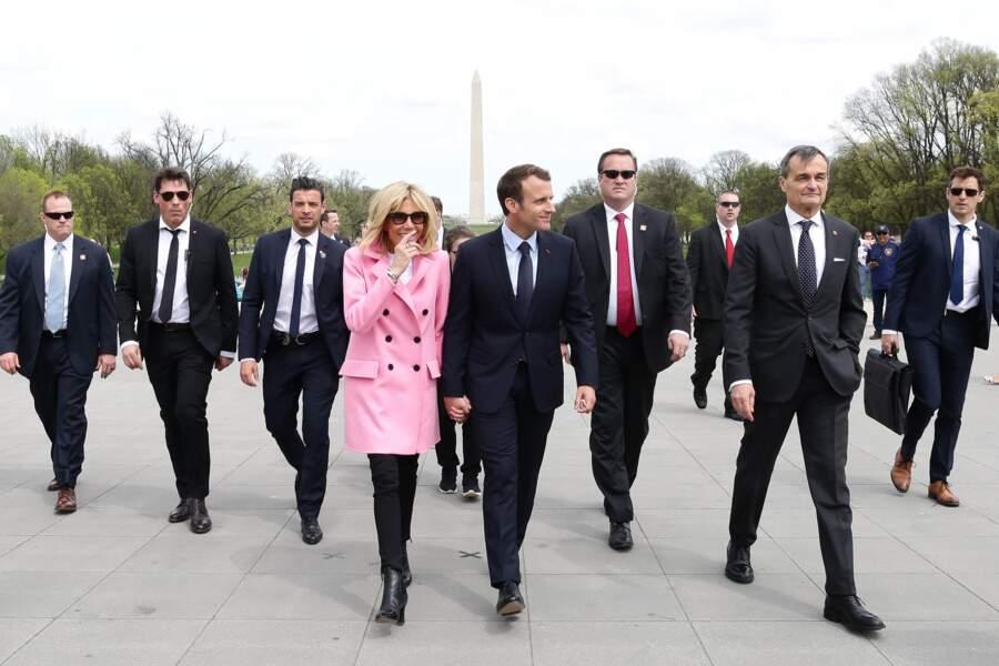 Brigitte Macron visite le Mémorial de Lincoln à Washington