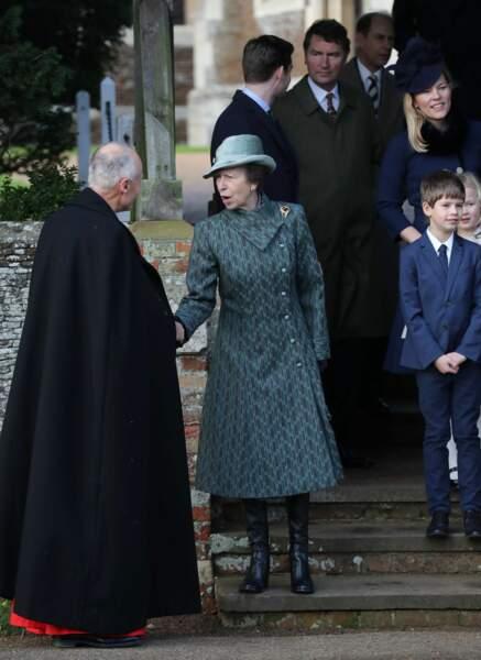 La princesse Anne, mère de Zara a tenu à être là