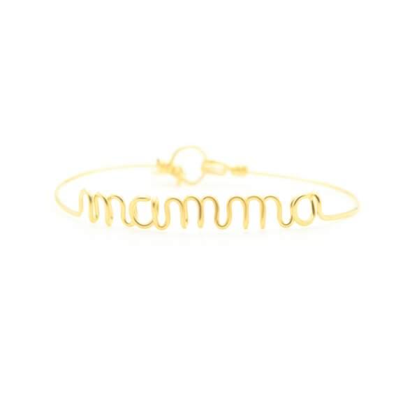 Bracelet en fil de cuivre doré à l'or fin collection spéciale «Wonder mum», Atelier Paulin, 95 €.