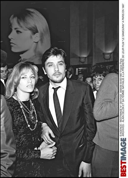 Alain et Nathalie Delon en 1967
