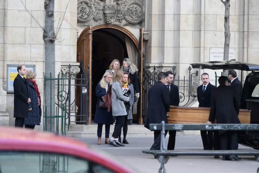 Obsèques de Thierry Sechan au temple protestant Port Royal à Paris le 16 Janvier 2019