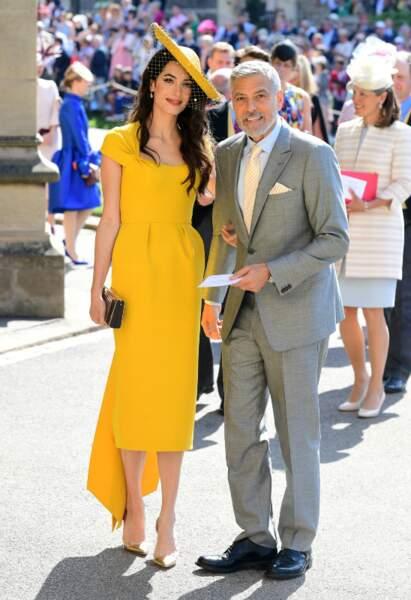 George Clooney et sa femme Amal, le glamour hollywoodien