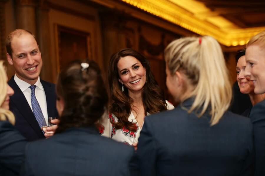 La Princesse Kate rencontre les médaillées des jeux paralympiques, le 18 octobre 2016