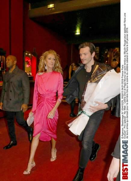 Céline Dion et Pepe Munoz se rendent au Moulin Rouge à Paris, le 24 janvier 2019