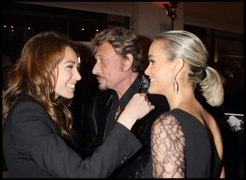 Laura Smet, Johnny et Laeticia Hallyday en 2008 à l'exposition de Patrick Demarchelier au Petit Palais à Paris