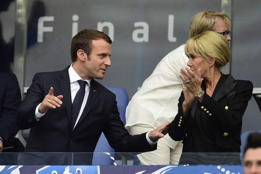Brigitte Macron assiste à la finale de la Coupe de France