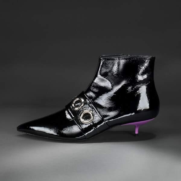 Low boots en cuir vernis, 275 € (Bimba y lola)