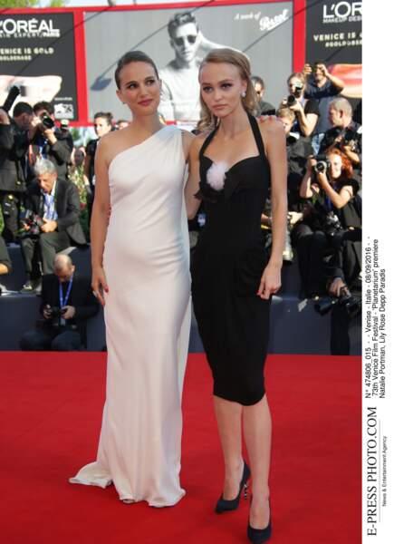 73th Venice Film Festival - 'Planetarium' premiere Lily Rose Depp et Natalie Portman Enceinte