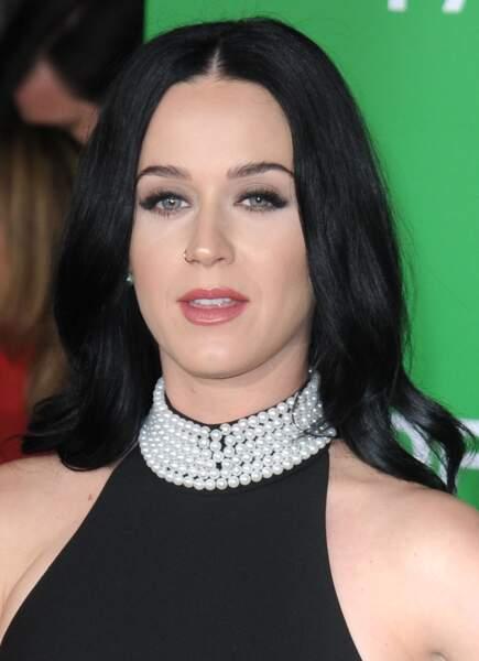 En 2016, bien que discrète on reconnaît encore Katy Perry à sa longue chevelure d'eben