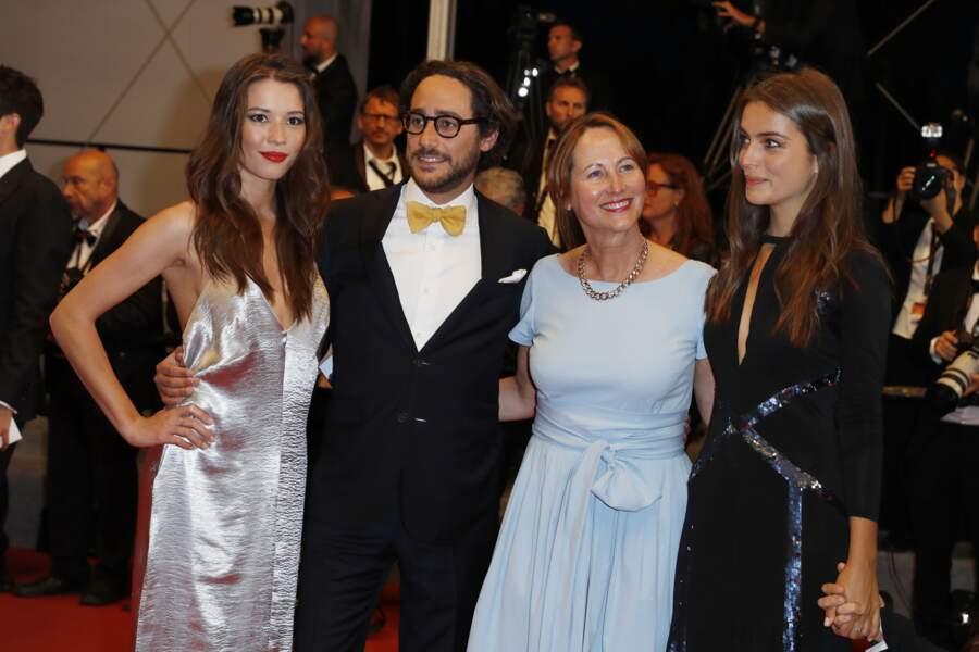 Ségolène Royal, son fils Thomas Hollande,sa compagne Emilie Broussouloux  à Cannes