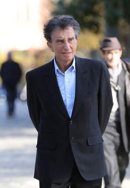Jack Lang, à l'enterrement de Philippe Gildas, au cimetière du Père-Lachaise, à Paris, le 5 novembre 2018.
